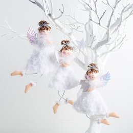 christmas tree angel Canada - New Angel Doll Christmas Tree Decorations for Home Xmas Tree Pendant Ornaments Desk Decor Adornos De Navidad New Year 2020 Gift