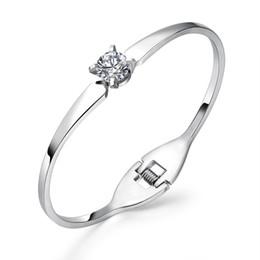 Steel Spring Bangles Australia - European American personality spring open cuff bracelets bangle titanium steel rose gold gold women jewelry diamond bracelet OPK 100pcs