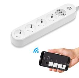 $enCountryForm.capitalKeyWord Australia - WiFi Socket Smart Power Strip Voice Control Timer Switch Power Strip Outlet with 4 AC Outlets 3 USB Port