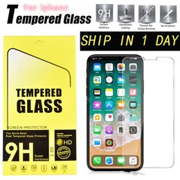 Screen protector film Stock online shopping - For iPhone XS XR Max X Tempered Glass Film Explosion Proof Screen Protector in stock