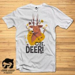 Quality Graphic Tees Australia - Mens T-shirt Print Oh Deer DTG Fancy cool TShirt Tees high quality graphic