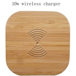 Neues drahtloses Ladegerät aus Bambus und Holz für Mobiltelefone Quadratische 5-Watt-Bambusschale, universelle drahtlose Verbindung mit einer Vielzahl von Optionen