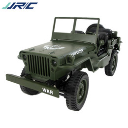 jeep gifts wholesale Canada - JJRC Q65 Remote Control Car Model Toy, Military Off-road Jeep, Pick-up Truck, 2.4G Climbing Vehicle High Speed, 1:10, for Kid' Birthday Gift