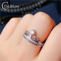 925 D Ring NZ - CoLife Jewelry 925 Silver Moissanite Ring for Young Girl 0.3ct D Color VVS Grade Moissanite Crown Ring Birthday Gift for Girl