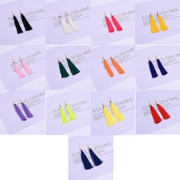 China Temperament Women's Fringe Earrings National Style Retro Earrings Europe and America Exaggerated Earrings suppliers
