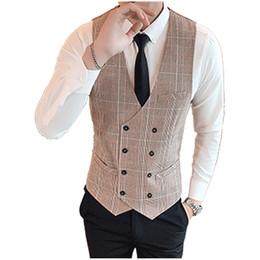 $enCountryForm.capitalKeyWord Australia - 2019 New Vest For Men Slim Fit Mens Suit Vest Male Waistcoat Homme Casual Sleeveless Formal Business Jacket Plus Large size