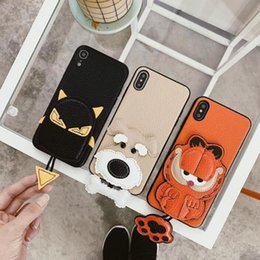 premium leather phone cases 2019 - S2 Mobile Shell Leather Animal Pendant Cat and Cat Premium Mobile Phone Case for iPhone X XS XS MAX Wholesale cheap prem