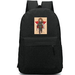 Soldier backpack online shopping - Winter Soldier backpack Bucky Barnes school bag Wolf super hero fans print daypack Leisure schoolbag Outdoor rucksack Sport day pack