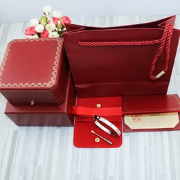 Love Bracelet Screws Australia - Love screw bracelet 10 CZ white gold with original box set 316L Titanium steel screwdriver silver bangle gifts for women and men