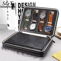 $enCountryForm.capitalKeyWord Australia - New Jewelry Watch Display Box Collection Watch, Jewelry, etc. Case PU Storage Holder Organizer Zipper Closure