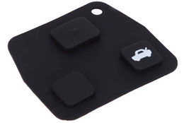 Discount new toyota remote keys New C91 Car Remote Key Holder Case Shell 3-button Rubber Pad for Toyota Easy to Install Protect Buttons From Excessive W