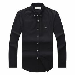 Großhandel 2018 19 Herbst Winter Herren Designer OXFORD Kleid Shirt für Männer Langarm lässig Krokodil Sozial Shirts Art und Weise USA Marke CL-Polohemd