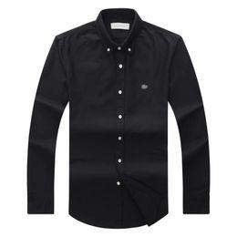 Опт 2018 19 осень зима мужская дизайнер OXFORD платье рубашка мужская с длинным рукавом повседневная крокодил социальные рубашки мода сша марка CL рубашка поло