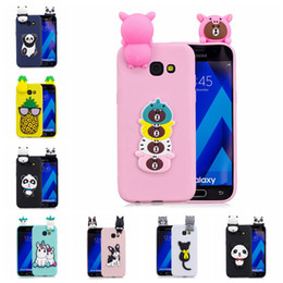 panda covers Australia - Pasted 3D Funny Panda Dog Cat Pineapple for Samsung Galaxy A7 2017 Case Cover Sticking a Little Silicon Doll 61 Models Option