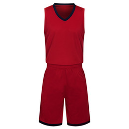 red basketball jerseys UK - 2019 New Blank Basketball jerseys printed logo Mens size S-XXL cheap price fast shipping good quality Dark Red DR002