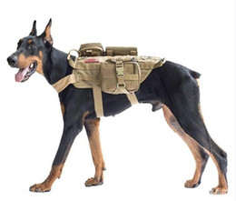 Polices clothes online shopping - Police Dog Large Pets Dogs Tactical Clothing Tactical Vests With Bags D Nylon Fabric Waterpoof Tactical Dogs Wear