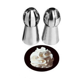 $enCountryForm.capitalKeyWord Australia - Wholesale- New 1PC Nozzles Tips Sphere Ball Cream Stainless Steel Icing Piping Nozzles Pastry Cupcake Buttercream RUSSIAN Bake Decor Tool