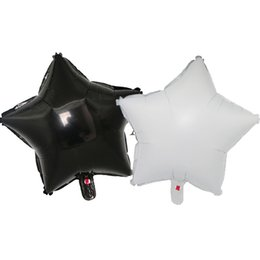 shower toys Canada - 50pcs 18 inch black white five-pointed star foil balloon Globos wedding birthday party decoration kids toy baby shower balloons