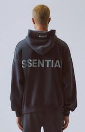 Diseñador para mujer para hombre sudaderas Esencial reflectante de manga larga con capucha Fleece sólido de la manera FOG sudaderas asiática tamaño S-XL en venta