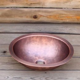 Sinks Product Australia - Oval copper bathroom sink washbasin household washbasin china sink copper product
