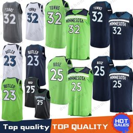 Minnesota 25 Rose Derrick 32 Karl-Anthony jerseys Timberwolves 23 Butler  Jimmy 22 Wiggins Andrew Free Shipping 2019 new Top quality Jersey 146e4c7dc