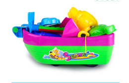 toys boats NZ - Novelty Sand Boat Toys Baby Kids Sandy Beach Toy Set 13Pcs Playing with Sand Water Sandbox Wheel Sandbox Wheel Summer Sand Water Toys.