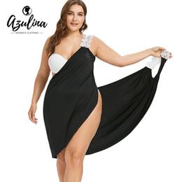 0c64eb73c AZULINA 2018 Nuevo Talla grande Correa de encaje Bikini Cover-Up Beach  Cover Up Mujer Traje de baño Traje de baño Cover Up Verano Ropa de playa  Túnica