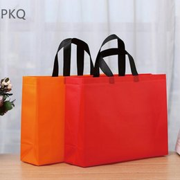 Wholesale Clothes Shopping Australia - New Reusable Shopping Bag Non-Woven Fabric Bags Folding Shopping Bag For Gift   shoes   Clothing Grocery Bags Shop Wholesale