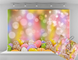 paint muslin backdrop Canada - Kate Digital Printing Easter Backdrops Colorful Eggs Photography Backdrop Easter Party Photo Studio Background for Shooting
