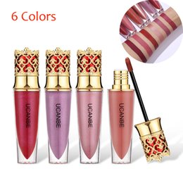 Longest Lasting Matte Lipstick Australia - Crown Design 6 Colors Extreme Flash Liquid lip Gloss Makeup Shimmer Matte Creamy Pigment Lipstick Long Lasting Cosmetic TSLM2