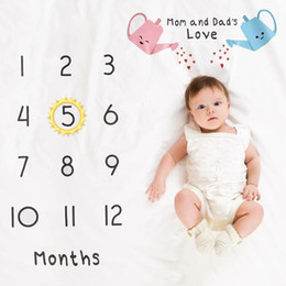 Photos babies online shopping - Infant Baby Milestone Blanket Photo Photography Prop Blankets Backdrop Cloth Calendar Bebe Boy Girl Photo Accessories x100cm