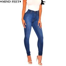 619be46bda MIND FEET Jeans For Women Blue Stretch Skinny Zipper Plus Size Denim Pants  Ladies Fashion Sexy Female Pencil Pants Autumn Spring