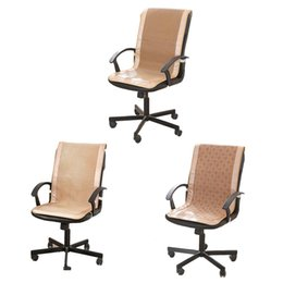 Office Chair Pads Australia - Summer Chair Cushion One Piece Seat Backrest Cushion Cool Breathable Office Chair Mat Pad Healthy Seat