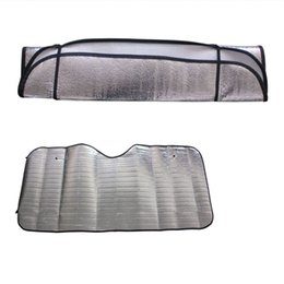 car window foil NZ - 1Pc Aluminum Foil Casual Foldable Car Windshield Visor Cover Front Rear Block Window Sun Shade Protect your interior #P5