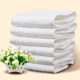 Wholesale New 2020 Reusable baby Diapers Cloth Diaper Inserts 1 piece 3 Layer Insert 100% Cotton Washable babies care Eco-friendly diaper 10pcs