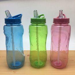 $enCountryForm.capitalKeyWord Australia - 600ML Blue Green Pink Flip Straw Water Bottle Sports Hydration Drinks Bottle