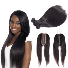 Discount remy hair extensions closure unprocessed - Msjoli Middle Part Lace Closure 2x6 Brazilian Human Hair Straight Hair Extensions unprocessed virgin remy hair weave