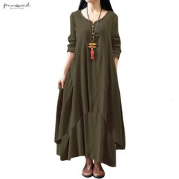 Long Loose dresses for women online shopping - Size Dress For Women Xxxl Xl Xl Fashion Women Loose Dress Solid Color Long Sleeve Long Maxi Dress Designer Clothes