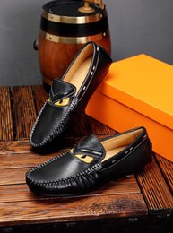 blue suit shoes Australia - New 2019 Men Genuine Leather Driving Flats Slip-On Formal Suit Business Dress Shoes Brand Casual Loafers Sapato Masculino Size 38-44