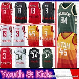 cef4ff417b0  9.99 Youth Donovan 45 Mitchell Ricky Rubio Utah Jersey Houston James 13  Harden Paul Rockets Milwaukee Giannis 34 Antetokounmpo Bucks