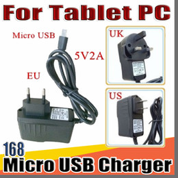 """Wholesale 168 Micro USB 5V 2A Charger Converter Power Adapter US EU UK plug AC For 7"""" 10"""" 3G 4G MTK6582 MTK6580 MTK6592 call Tablet PC phone Phablet"""