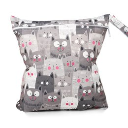 $enCountryForm.capitalKeyWord Australia - Zipper Diaper Waterproof Reusable Wet Bag Printed Pocket Nappy Bags Travel Wet Dry Mini Diaper Bag
