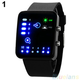 $enCountryForm.capitalKeyWord Australia - Popular Mens Womens Binary Number Blue Led Wristwatches Silicone Band Quartz Wrist Watch No181 5v4y 89