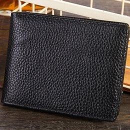 $enCountryForm.capitalKeyWord Australia - 2019 new bag Free shipping billfold High quality Plaid pattern Men's wallet leather wallet driver's license photo card Cross section