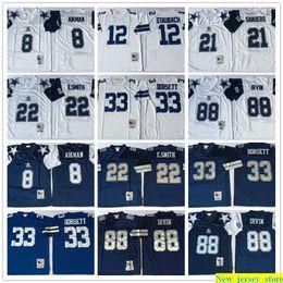 Troy jersey online shopping - Vintage th Troy Aikman th Roger Staubach Deion Sanders Emmitt Smith Tony Dorsett Michael Irvin Football Jerseys