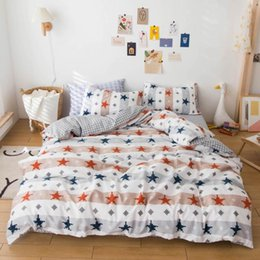 double sheet size UK - Svetanya Cotton Bedding Set Print Bed Linen (flat Sheet Pillowcase Quilt Cover) Single Double Size