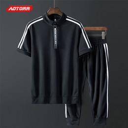 $enCountryForm.capitalKeyWord NZ - 2019 Mens Set Short tracksuit Sportswear Mens Clothing Summer Short Set Fasion Zipper Sportsear Suit Brand 2 Piece