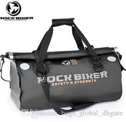 pvc bike bag NZ - PVC Large capacity Bike Back seat bag Waterproof fabric Resistance to tear Collapsible pocket Bags Complimentary cross-body strap