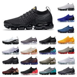 Discount mesh lace up beach shoe - New Mens Womens Shoes Outdoor Fashion Shoes Sneakers RUST PINK Dark Grey Triple White BLACK CHROME Breathable Fury Oreo