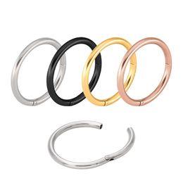 $enCountryForm.capitalKeyWord Australia - Titanium Hinged Segment Hoop Nose Ring 16G Nipple Clicker Ear Cartilage Tragus Helix Lip Piercing Unisex Body Jewelry